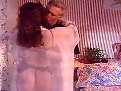 Randy West & Brunette In Lingerie