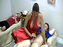 Mother Is Dominating The Two Young Boys