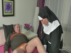 German Mother Wake Up Her Step Son With Fuck