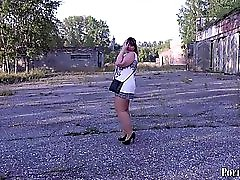 Irina BBW Masturbating In Public Places