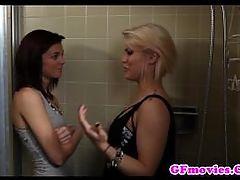 Stunning Lesbian Kisses Her Gfriend
