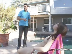 Sunbathing Teen Fucked By Not Step Dad