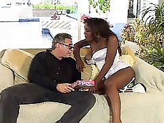 Small And Bit Titted Black Share One Dick