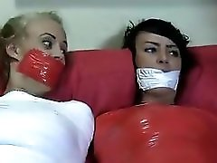 Two Soccer Girls Tape Tied&tape Gagged