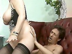 Redhead With Big Tits Takes On Two At A Time Clip