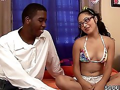 Skinny 18yr Old Teen Seduce To Fuck By Monstercock Black Guy