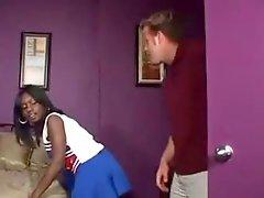 Ebony Cheerleader Interracial