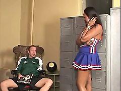 Angel Eyes Ebony Cheerleader Creampie
