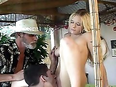 Teen Fucks Him For Birthday Gift While Dad Joins In!