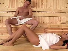 Hot Sauna Footjob From Melanie Memphis