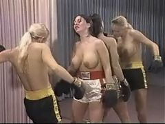 Lesbian Topless Boxing