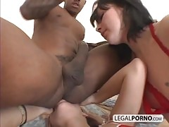 Big Black Cock Fucking Two Girls Wearing Sexy Red Lingerie Sl 6 03