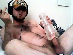 Str8 Bear Watching Porn And Fleshjack