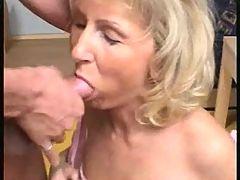 Mature Blonde Loves Cum On Face!