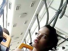 Tetona En El Bus Busty On The Bus