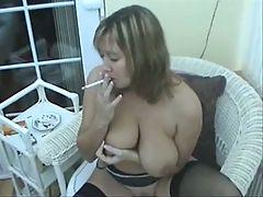 Brit MILF Smoking Part1