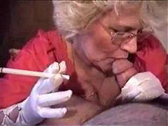 Granny Head #5 Smoking Cum For The Teacher
