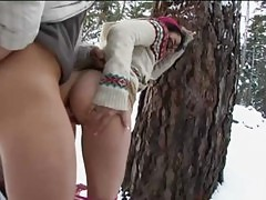 Mixed Asian Lielani Keeps Warm Outdoors With Her Boyfriend&#039 S Cock