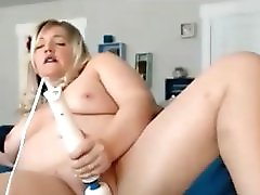 Chubby Blonde Pussy Toying