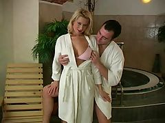 Hot Couple In The Sauna
