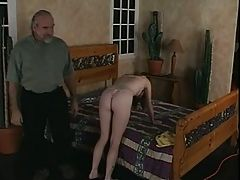 Hot Young Honey Gets Her Tight Ass Spanked In Bedroom
