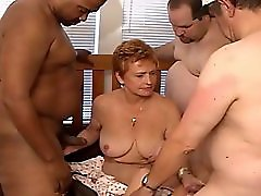 Granny Gets Impregnated By Wrestlers