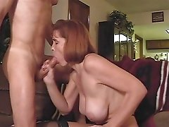 Mature Sucks Cock And Get Big Tits Splattered With Cum