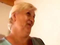 Fat Ugly Blonde Granny Takes Young Cock