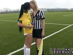 Hot Blond Man Girl Brazilian Player Screwing The Refere
