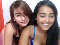 Two Teen Students Having Fun